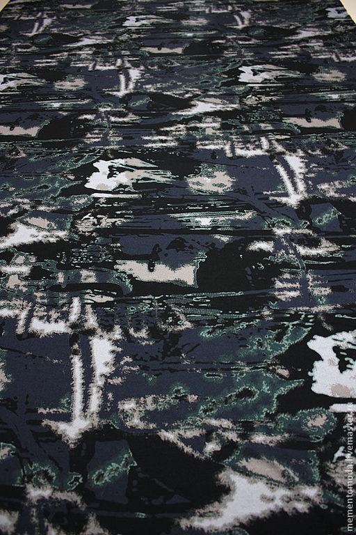 """Шитье ручной работы. Ярмарка Мастеров - ручная работа. Купить Трикотаж вискозный """"Милитари"""" итальянский. Handmade. Тёмно-синий, унисекс"""