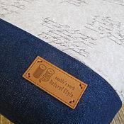 Джинсовая сумка с надписями