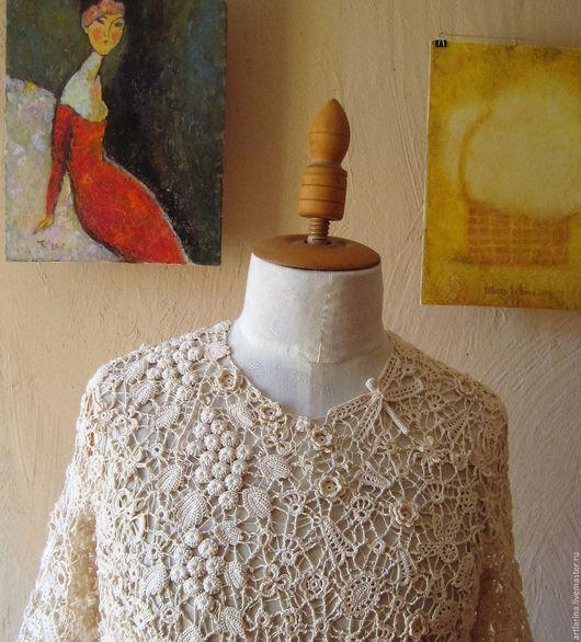 """Платья ручной работы. Ярмарка Мастеров - ручная работа. Купить Платье"""" Модерн"""". Handmade. Бежевый, жемчужный цвет, вискоза"""