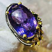 Украшения handmade. Livemaster - original item 19p Ring with natural amethyst 27 ct buy. Handmade.