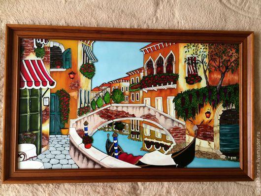 """Город ручной работы. Ярмарка Мастеров - ручная работа. Купить Картина """"Венеция"""". Handmade. Картина, картины, стекло"""