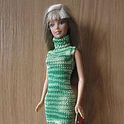 Куклы и игрушки ручной работы. Ярмарка Мастеров - ручная работа Зеленое платье без рукавов. Handmade.