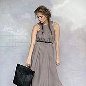 Одежда ручной работы. Ярмарка Мастеров - ручная работа Платье-сарафан дымчато-сиреневый. Handmade.