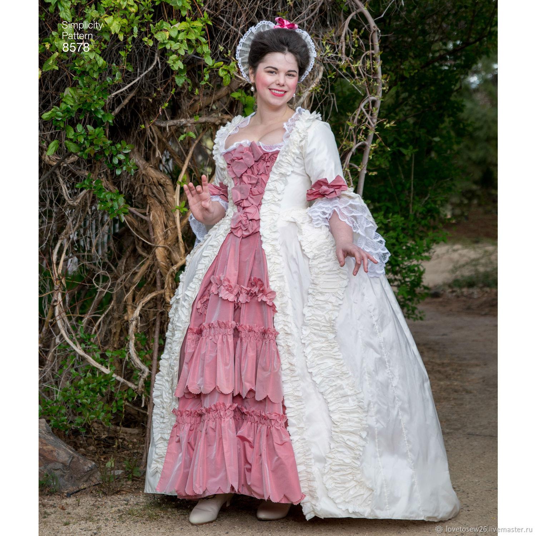 Sewing Pattern Historic Sack Back Gown Robe A La Francaise Dress S8578 Zakazat Na Yarmarke Masterov H7rrbcom Vykrojki Dlya Shitya St Petersburg