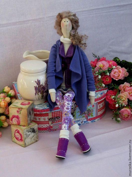 Куклы Тильды ручной работы. Ярмарка Мастеров - ручная работа. Купить Кукла тильда Александра. Handmade. Сиреневый, кукла в подарок