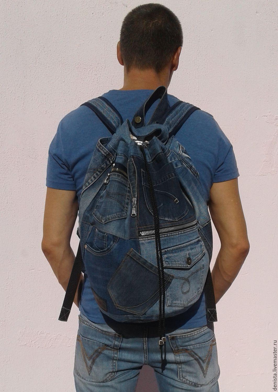 Denim backpack Khayfa, Backpacks, Saratov,  Фото №1