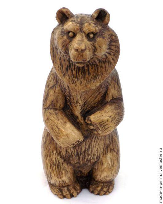 Статуэтки ручной работы. Ярмарка Мастеров - ручная работа. Купить Бурый Медведь на задних лапах - статуэтка из камня Кальцит. Handmade.