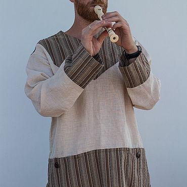 Одежда ручной работы. Ярмарка Мастеров - ручная работа Рубаха мужская Рубаи. Handmade.