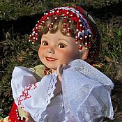 Куклы и игрушки handmade. Livemaster - original item Collectible porcelain doll in the Russian style Spring square dance. Handmade.