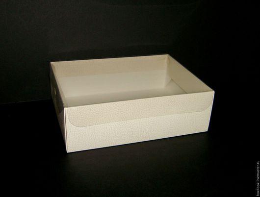 Упаковка ручной работы. Ярмарка Мастеров - ручная работа. Купить Коробки 30x22x8cм с пластиковой крышкой. Handmade. Белый, упаковка для подарка