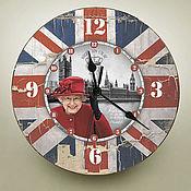 Для дома и интерьера ручной работы. Ярмарка Мастеров - ручная работа часы настенные Елизавета. Handmade.