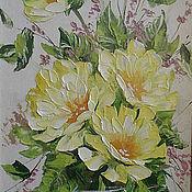 Картины и панно handmade. Livemaster - original item still life with yellow flowers. Handmade.