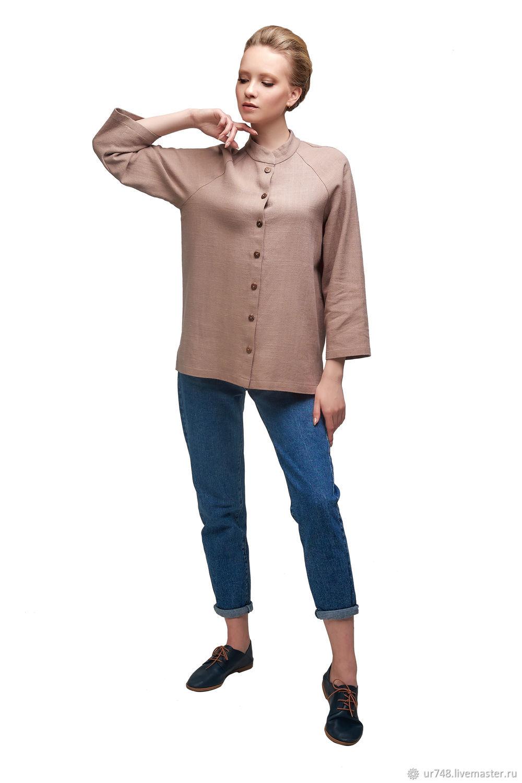 Рубашка бежевая, Рубашки, Златоуст,  Фото №1