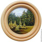 Картины и панно handmade. Livemaster - original item Panels of cedar Landscape. Handmade.