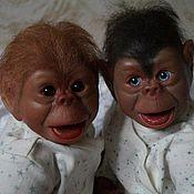 Куклы и игрушки ручной работы. Ярмарка Мастеров - ручная работа обезьянки Кай и Герда. Handmade.