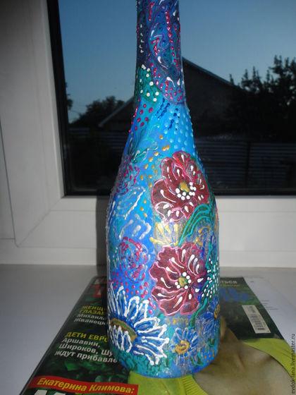 """Люди, ручной работы. Картина """"Водолей"""" и бутылка декоративная. Оригинальные подарки от Светланы. Ярмарка Мастеров. Картина для интерьера, бутылка в подарок"""