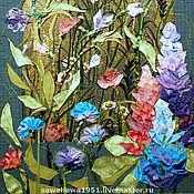 """Картины и панно ручной работы. Ярмарка Мастеров - ручная работа """"Луговое разноцветье"""". Handmade."""
