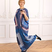 Одежда handmade. Livemaster - original item Chic floor-length oversize dress made of viscose