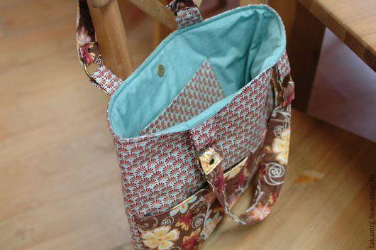 Женские сумки ручной работы. Ярмарка Мастеров - ручная работа. Купить сумка. Handmade. Лоскутное шитье ткань, бирюзовый