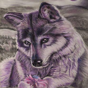 Картины и панно ручной работы. Ярмарка Мастеров - ручная работа Волчица. Handmade.