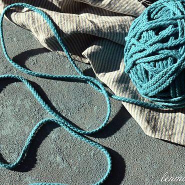 Материалы для творчества ручной работы. Ярмарка Мастеров - ручная работа 2861 шнур х/б морская волна. Handmade.