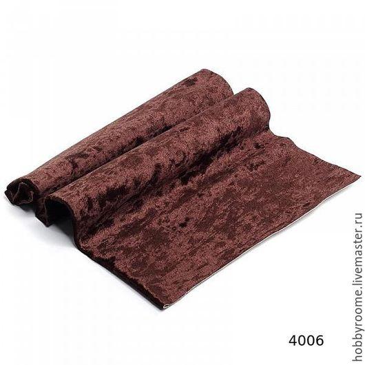 Плюш винтажный М-4006    50х50см, тёмно-коричневый 100% п/э В НАЛИЧИИ