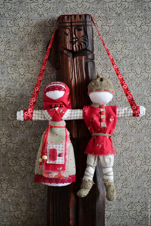 """Народные куклы ручной работы. Ярмарка Мастеров - ручная работа. Купить Народные куклы  """" Неразлучники"""" Рябина и первый снег"""". Handmade."""
