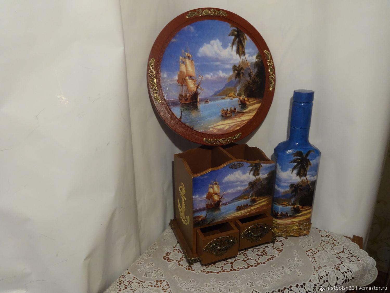 Шкатулки ручной работы. Ярмарка Мастеров - ручная работа. Купить Карандашница 'Пираты карибского моря'. Handmade. Карандашница, карандашница в подарок