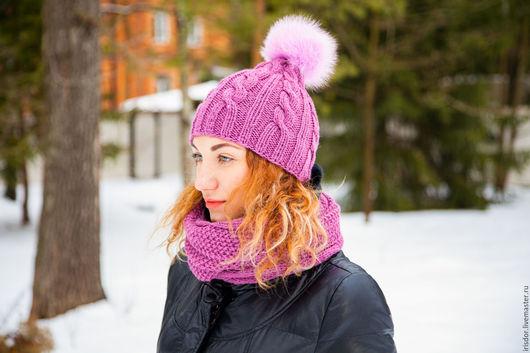 Комплект шапка и шарф, шапка и шарф женский, комплекты вязаные, вязаные шапка и шарф, шапка шарф комплект, вязаный шарф, вязаная шапка, шарф вязаный, шапка вязаная, вязаные головные уборы