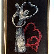 """Картины и панно ручной работы. Ярмарка Мастеров - ручная работа Вышивка крестом """"Любовь"""". Handmade."""