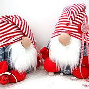 Декор в стиле Тильда ручной работы. Ярмарка Мастеров - ручная работа Новогодний Гном игрушка, гном подарок новогодний. Handmade.