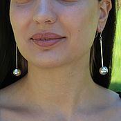 Украшения handmade. Livemaster - original item Silver Ball Earrings #4 Made of 925 Sterling Silver AN0015-1. Handmade.