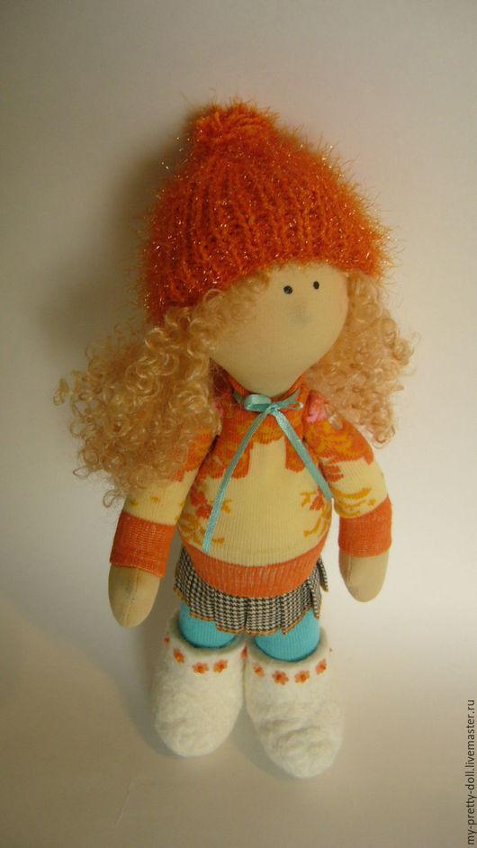 Коллекционные куклы ручной работы. Ярмарка Мастеров - ручная работа. Купить Кукла Снежка  девочка Зима. Handmade. Кукла текстильная
