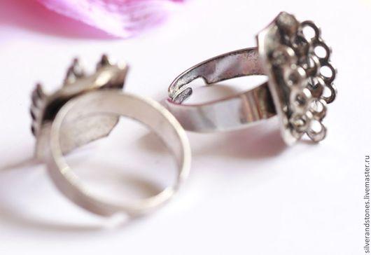 Для украшений ручной работы. Ярмарка Мастеров - ручная работа. Купить Основа для кольца, с ушками. Handmade. Серебряный, для кольца