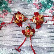 Куклы и игрушки ручной работы. Ярмарка Мастеров - ручная работа Игрушка на елку. Петушок. Handmade.
