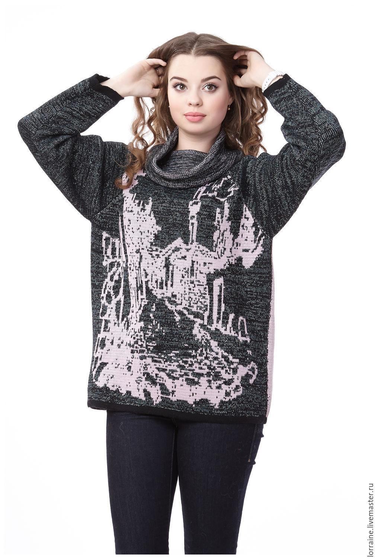 Женский вязаный свитер с горлом с доставкой