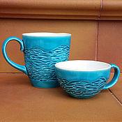 """Посуда ручной работы. Ярмарка Мастеров - ручная работа Комплект чашек """"Океания"""". Handmade."""