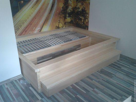 Мебель ручной работы. Ярмарка Мастеров - ручная работа. Купить Кровать с подсветкой. Handmade. Бежевый, кровать со ступенькой, спальня