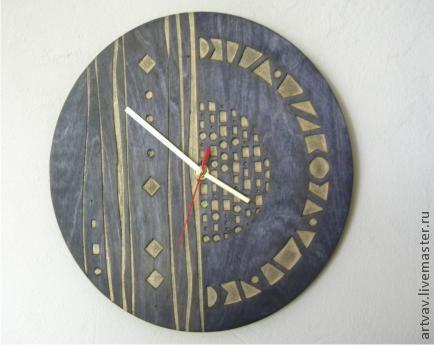 """Часы для дома ручной работы. Ярмарка Мастеров - ручная работа. Купить часы """"Галина"""". Handmade. Черный, часы, часы настенные"""