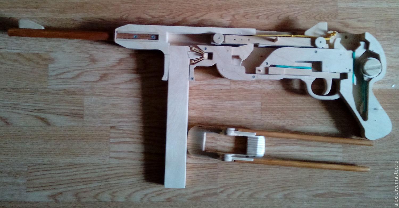 Автомат из дерева своими руками стреляющий 35