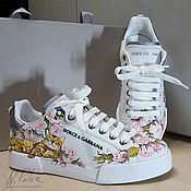 Обувь ручной работы handmade. Livemaster - original item Painting on shoes. Sneakers