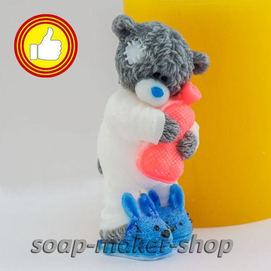 Материалы для косметики ручной работы. Ярмарка Мастеров - ручная работа. Купить Силиконовая форма для мыла «Тедди с грелкой 3D». Handmade.
