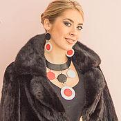 Украшения handmade. Livemaster - original item Jewelry set leather Colo. Necklace and earrings. Handmade.