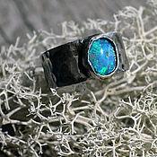 """Украшения ручной работы. Ярмарка Мастеров - ручная работа кольцо с опалом """"простое бохо"""". Handmade."""