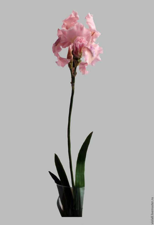 Ирис,видео мастер-класс ирис из полимерной глины своими руками,розовый ирис,полимерная глина,керамическая флористика,цветы ручной работы.Цветы и украшения Зарифы Пироговой.