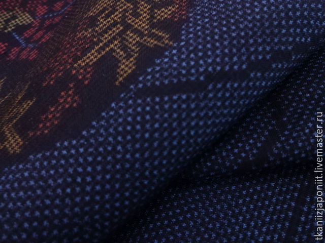 Japanese silk 'Dark blue', Fabric, Chelyabinsk,  Фото №1