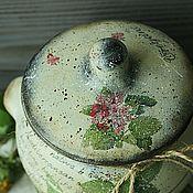 Банки ручной работы. Ярмарка Мастеров - ручная работа Горшочек большой Орегано (пряные травы)в стиле кантри,винтаж. Handmade.