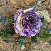 Украшения handmade. Livemaster - original item Flowers of fabric rose brooch silk