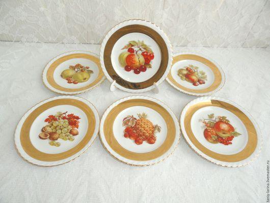 Винтажная посуда. Ярмарка Мастеров - ручная работа. Купить Набор десертных тарелок, студия Leni Parbus, Германия. Handmade. Комбинированный