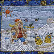 Для дома и интерьера ручной работы. Ярмарка Мастеров - ручная работа Лоскутное Панно: «По щучьему велению». Handmade.